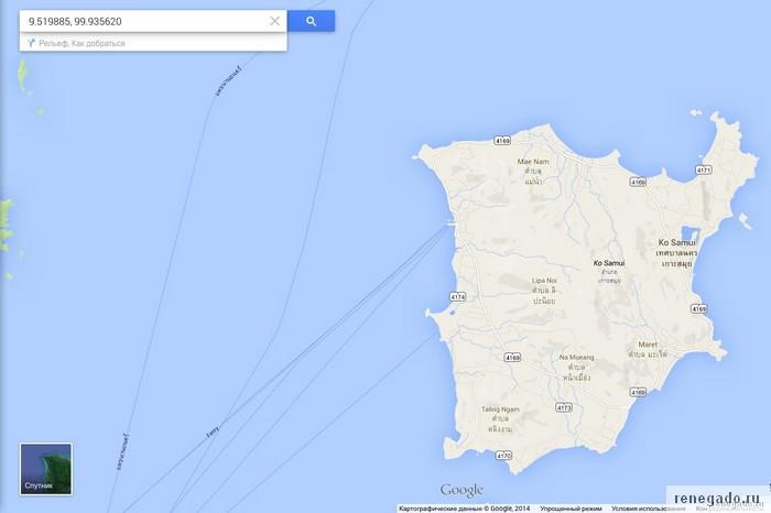 ОБразец вставки координат в google maps