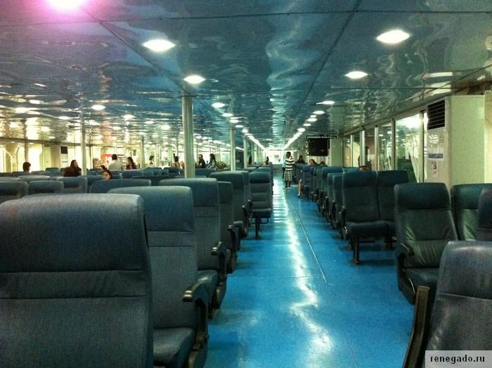 Пассажирский салон на пароме
